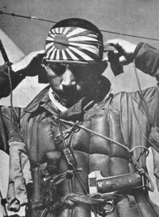 A symbolic image of Japanese Kamikazi