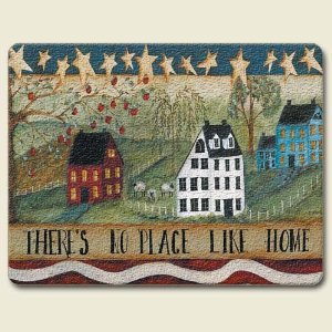 "There's No Place Like Home 15""x11.5"" Tempered Glass Cutting Board"