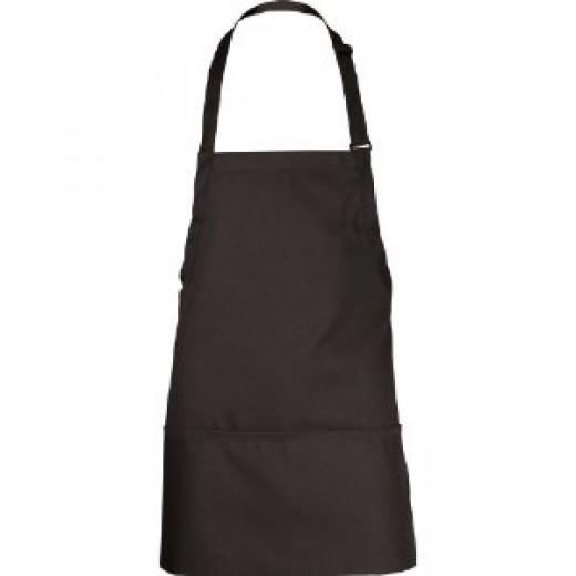Chef Works F10 3-Pocket Bib Apron, 24-Inch Length by 28-Inch Width, Black