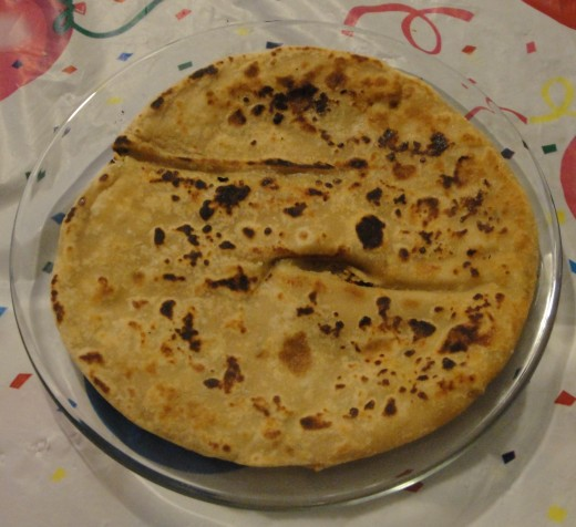 In India paratha with yogurt or pickle is a staple breakfast for a large number of people.
