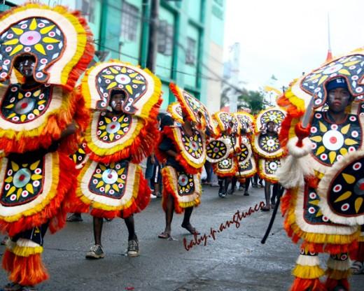 Partipants dancing during the Ati-Atihan Festival