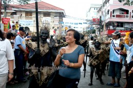 """Dancing in the street together with black """"colored"""" participants"""