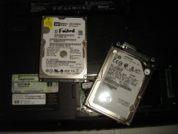 Replace the faulty hard drive by a used Hitachi 250G hard drive.