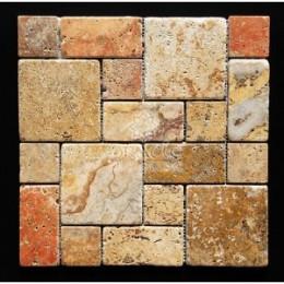Contemporary kitchen backsplash brick mosaic tile pattern - YouTube
