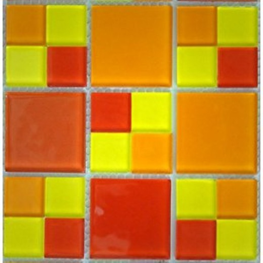 Glass Mosaic Tile red orange yellow for kitchen bathroom backsplash pool spa bar #AB346 20 sheets