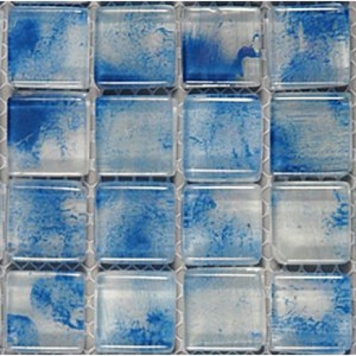 Glass Mosaic Tile artistic blue for kitchen bathroom backsplash pool spa bar GM8402 - 11 sheets