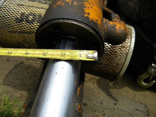 Measure the gland holes and piston rod diameter