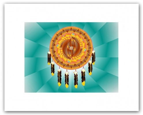 Cheyenne Symbol of the Universe Shield. Image from http://www.sacred-geometry.com/Print_Cheyenne_Symbol_of_the_Universe.htm