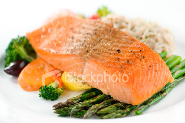 Salmon is a good source of Omega oils and protein and in a salad, can taste fabulous.