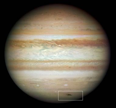 Jupiter hit by meteorite on july 19,2009