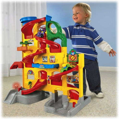 Fisher-Price Little People Wheelies Stand N Play Rampway is fun!