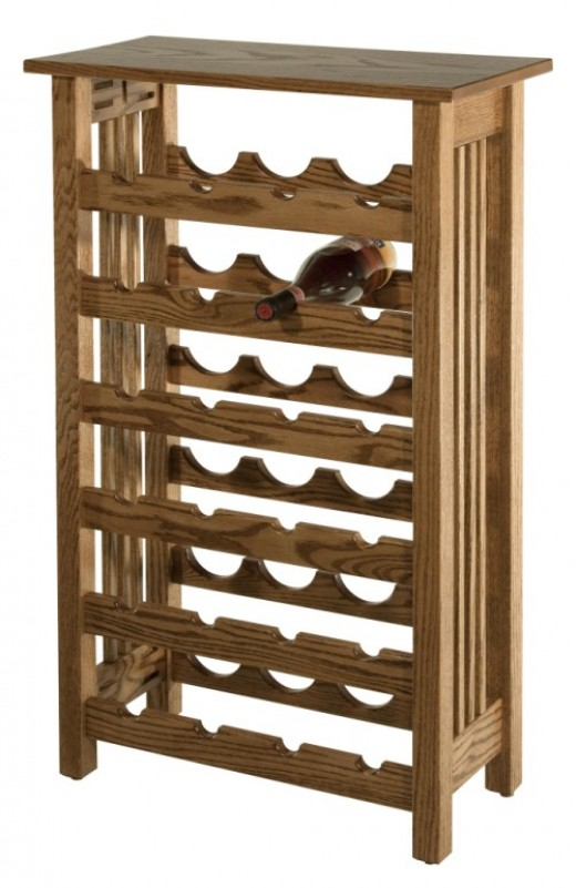 Mission Style Wine Racks