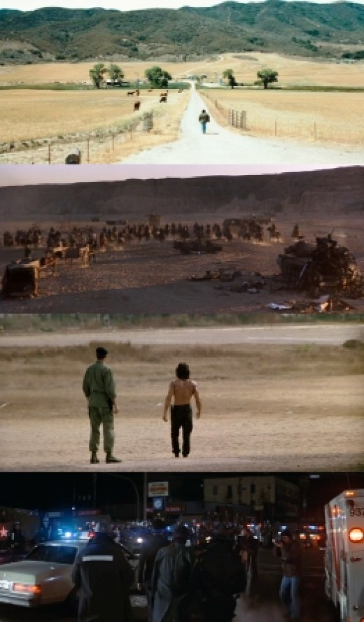 Rambo walking away