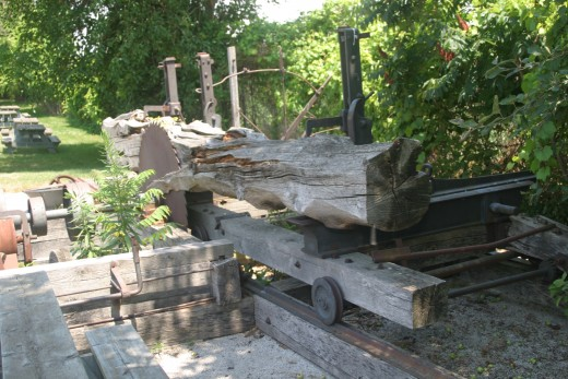 Part of a saw mill which was connected to the BAI vocational school in Dresden, Ontario