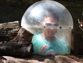 Man Inside Bubble ~  Courtesy of Photo8