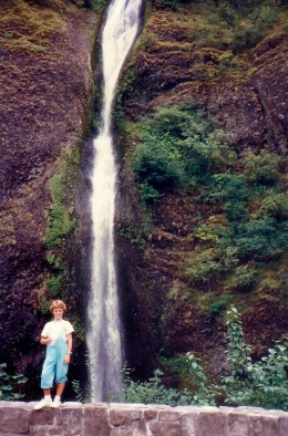 My niece at Horsetail Falls
