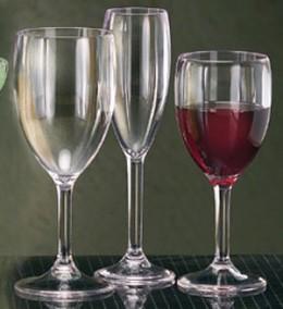 Plastic wine glasses
