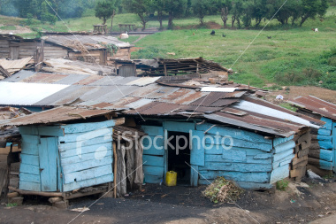 Poverty is endemic in Africa, where huge shanty town abound around major cities.