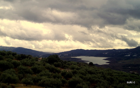 Storm clouds over the lake