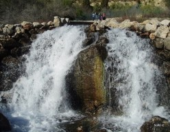 The spectacular waterfall at the source of the River Guaro