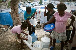 Assisting other countries to get enough water to drink