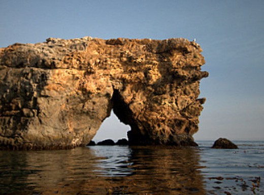 Arch off of Santa Cruz Island, California. My original photography, see link for a bigger view and for purchase in the Links section.