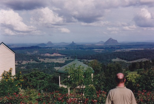 The Glass House Mountains, hinterland of Queensland, Australia's 'Sunshine Coast.'
