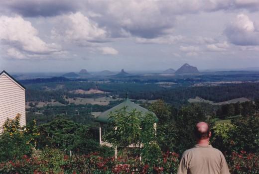 The Glass House Mountains, hinterland of Queensland, Australia's 'Sunshine Coast.'