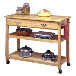 Natural Wood Kitchen Cart