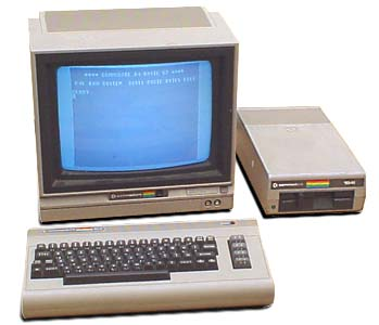 A C64 complete with external drive and monitor