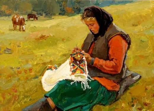 Painting by Taras' father, famed Ukrainian artist, Ivan Ivanovich Loboda