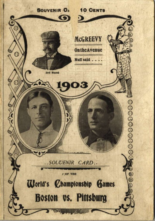 1903 World Series: Boston Americans vs. Pittsburgh* Pirates