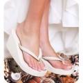 Wedge flip flops