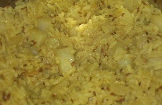 Aloo Pulao Recipe - Ingredients and Preparation Method of Potato Rice