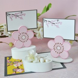 Cute cherry blossom place card holders