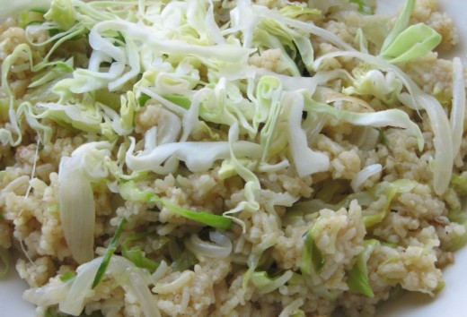 Cabbage Rice Recipe - Ingredients and Method of Preparation