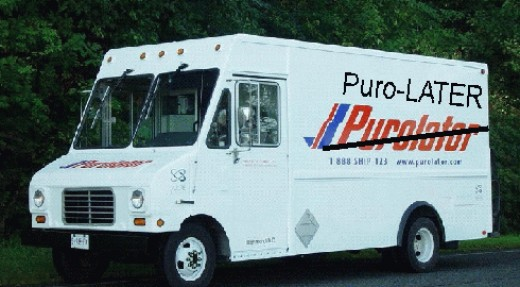 The mysterious Purolator driver is rarely seen. Do these people really exist?