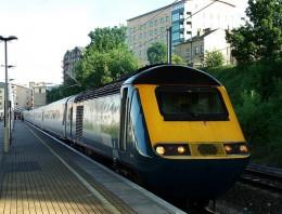 Train depot at Bradford Forster Square