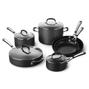 Simply Calphalon Nonstick Hard-Anodized 10-Piece Cookware Set