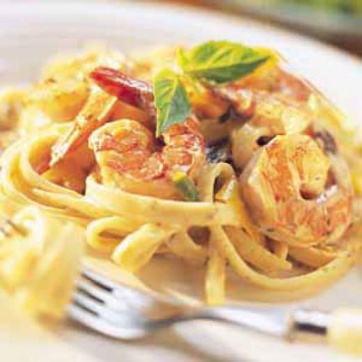 Shrimp Fettuccine Alfredo Recipe | MyRecipes.com