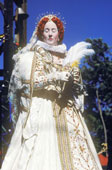 "Queen Elizabeth I of England wore white often. She was the ""Virgin Queen""."