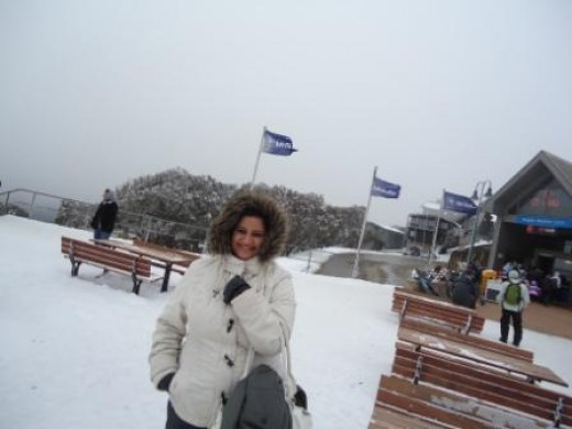 Snow at Mt Buller