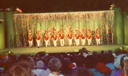 Entertainment at night in Butchart Gardens