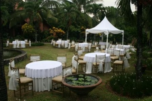 Outdoor Wedding Ideas Shelter and Lighting