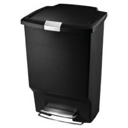 simplehuman Step Trash Cans, Rectangular, Plastic, 10-1/2 Gallons