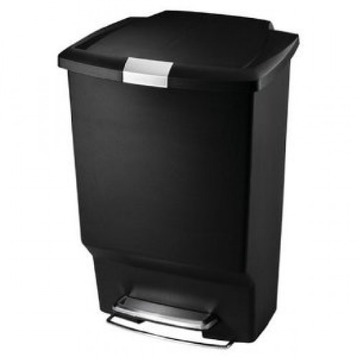 simplehuman Step Trash Cans, Rectangular, Plastic, 10-1/2 Gallons