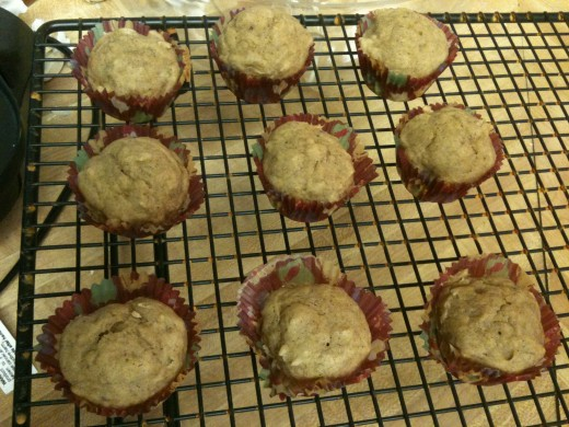 My daughter and I love to make these delicious mini banana applesauce muffins together.