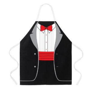 Attitude Apron Tuxedo Apron, Black, One Size Fits Most