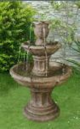 outdoor water fountain