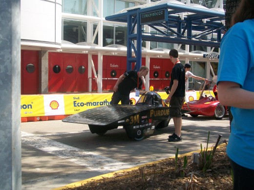 Purdue University's solar car